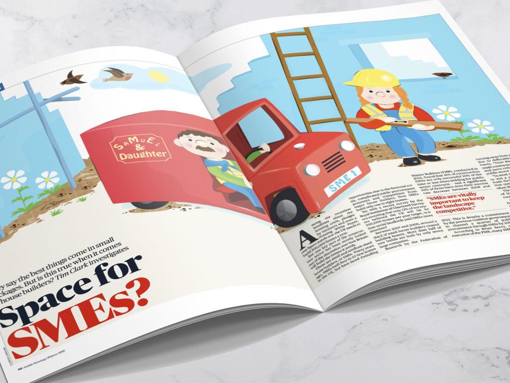 Trade Magazine spread